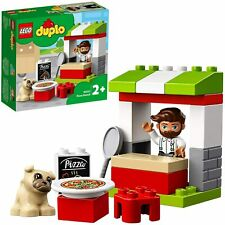 LEGO 10927 DUPLO Town Pizza Stand Playset with Pizza and Dog Figure, Toddlers, N