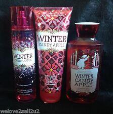 Bath & Body Works Winter Candy Apple Fragrance Mist Spray Cream Shower Gel Wash