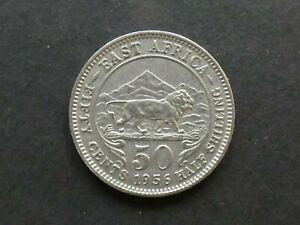 East Africa, 50 Cents, 1956, error mint mark; KHN