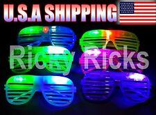 12 PCS Light Up Shutter Glasses LED Shades Flashing  Rave Wedding Rock Party