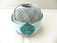 Häkelgarn Coats Anchor Aida 10 multicolor 50g 01125 blau-hellblau-hellgrün-grün