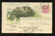 CANADA PACIFIC RAILWAY STATIONERY HOTEL FRONTENAC BITTERNE REDIRECT SUNBURY 1907