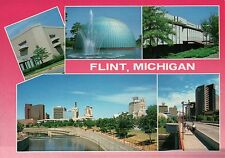 Flint, Michigan, Longway Planetarium, River Front, Buildings etc., MI - Postcard