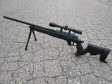 Well MB04D Metal Bolt Action Airsoft Sniper Rifle With Scope And Bipod(Black)