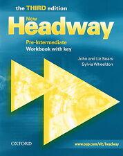 Oxford NEW HEADWAY Pre-Intermediate THIRD ED Workbook w Key | Soars Wheeldon NEW