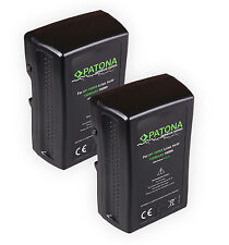 2x patona premium Batterie v-Mount 190wh 14,4v 13200mah F. sony bp-190ws D-tap