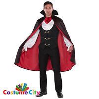 Adult Men's True Vampire Count Dracula Halloween Fancy Dress Party Costume