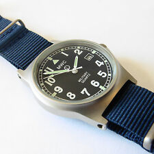 MWC G10 LM Military Watch Navy Blue Strap, Date, 50m Water Resistance NEW