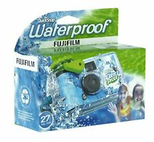 Fujifilm Quick Snap Waterproof 27 exp. 35mm Camera 800 film,Blue/Green/white,1 P