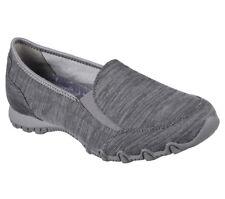 NEU SKECHERS Damen Sneakers Slipper Loafer Memory Foam BIKERS LOUNGER Grau