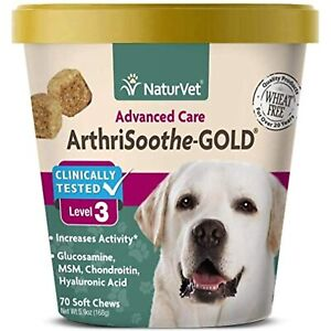 NaturVet ArthriSoothe-Gold Level 3 Advanced Joint Care for Dogs  Soft Chew Dog