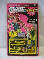 1993 GI Joe action figure SCARLETT v2 Ninja Force vintage Hasbro 80s toy MOC