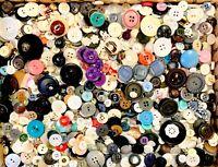 BUTTONS! HUGE Lot TWELVE POUNDS Vintage Sewing Buttons 12lb Estate Mix  1PD5
