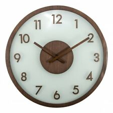 Boyle NeXtime Modern Indoor Stylish Wall Clock Frosted Wood/Glass