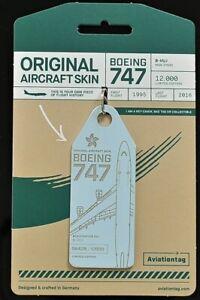 Aviation Tag  CATHY- BHUJ B747 FlapsFive original Flugzeug Rumpf - BLUE!