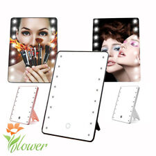 3 Colors Touch Screen Makeup Mirror LED Light Kit Rotatable Make Up Mirror