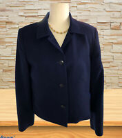 Talbots Women's 12 Pure Wool Blazer Jacket Single Breasted Lined 4 Button Blue