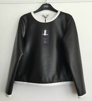 M&S Limited Edition Black Wet Look Top / Sweater 12/14/16/18 RRP £35