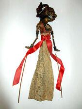 Holz Puppe Wayang Golek Marionette Stabpuppe Indonesien Asien handgefertigt sign