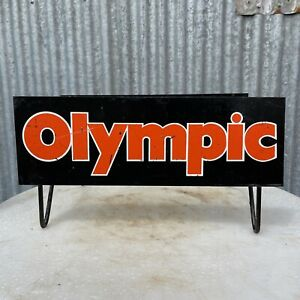 OLYMPIC TYRES Genuine Vintage Double Sided Tyre Rack Display Stand