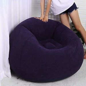 Inflatable Sofa Lazy Lounger Chair Living Room Large Bean Bag Couch Chair