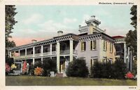 D91/ Greenwood Mississippi Postcard 1953 Malmaison Building