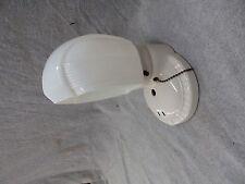 Vtg White Porcelain Sconce Old Milk Glass Shade Art Deco Light Fixture 2348-16