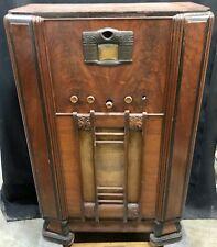 Stromberg Carlson #240-M 1937 Vacuum Tube Wood Console ART DECO Radio