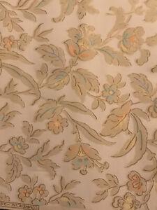 Vintage Wallpaper Roll 1930's Art Deco Floral REAL Vintage