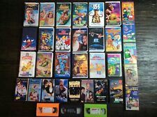 Lot of 34 VHS Comedy Children's Family Cartoon Movies Video Cassette Tape Set