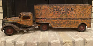 BUDDY L TRUCK 1941 ALLIED VAN LINES LONG DISTANCE HAULING MOVING Parts Restore