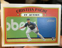 2021 Topps Heritage Christian Pache RC In Action Braves Rookie #304