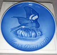 Bing & Grondahl 1970 MOTHERS DAY PLATE Mother Bird W/ Chicks Mors Dag Porcelain