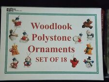 New Giftco Woodlook Polystone Set Of 18 Christmas Ornaments