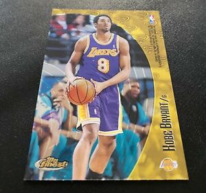 1998-99 Topps Mystery Finest Kobe Bryant Double-Sided Card w/ Tim Duncan #M38