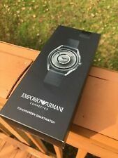 Emporio Armani Stainless Steel Touchscreen Smartwatch, Color: Black (ART5009)