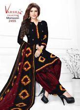 Diwali Special Unstitched Salwar Kameez Synthetic Designer Punjabi Suit Indian