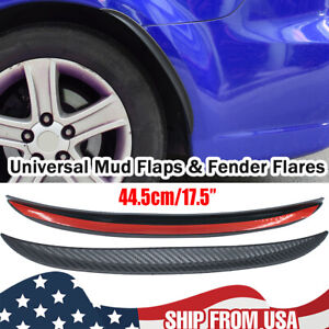 Car Fender Mud Flaps Wheel Arches Flares Extension 44cm Wide protector Universal