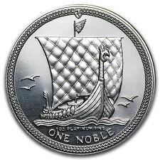 1986 Isle of Man 1 oz Platinum Noble BU - SKU #82496