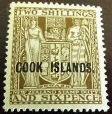COOK ISLANDS 1936-44 DEEP BROWN THICK PAPER S.G.118 Wmk. 43 P.14 MH VGC