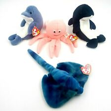 Ty Beanie Baby Ocean Sea Collection Bundle Lot of 4