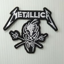 """2.3/4""""x1 pc. metallica band embroidered embroidery iron on sew patch cap jacket"""