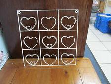 Metal Wire Floating Wall Mounted Cards Shelf Square Shape Hearts Photos  Shelf