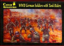 Caesar Miniatures 1/72 GERMAN WWII SOLDIERS WITH TANK RIDERS Figure Set