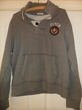 Mens Abercrombie And Fitch Grey Cotton Hoodie Size XL
