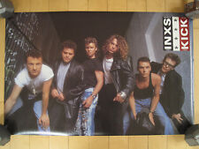 1988 vtg Inxs band promo Poster tour Concert art Music Nos 80s michael hutchence