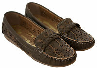 New Ladies Womens slip on flat moccasin loafers comfort pumps casual shoes uk3-8