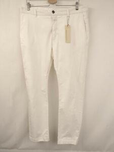 CLOSED Designer Hose Gr.52 Pants Chino Style Taschen Baumwollstretch Creme Weiß