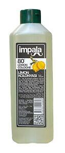 Impala 80° Alcohol  Lemon Cologne 1000 ml - Turskih Limon Kolonya