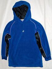 Russell Deportivo Juventud Talla M AZUL Logotipo Bordado Suéter Con Capucha